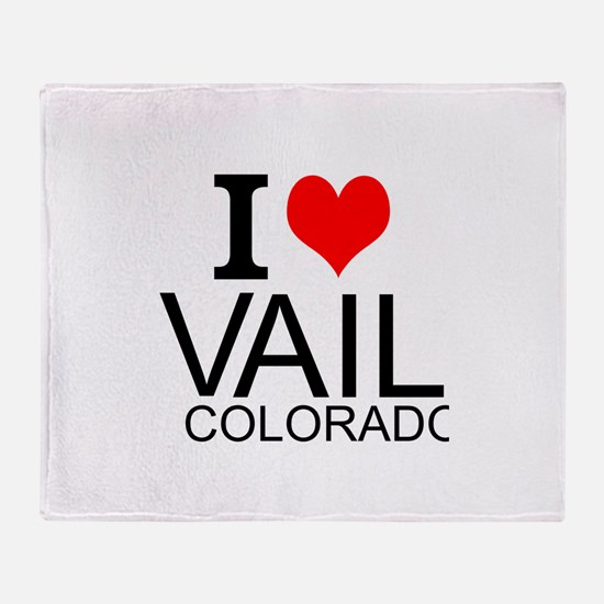 I Love Vail, Colorado Throw Blanket
