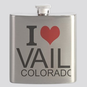 I Love Vail, Colorado Flask