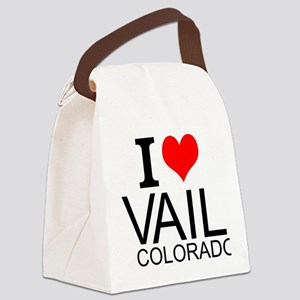 I Love Vail, Colorado Canvas Lunch Bag