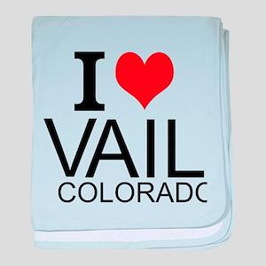 I Love Vail, Colorado baby blanket