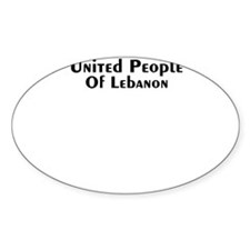 United People of Lebanon Oval Sticker