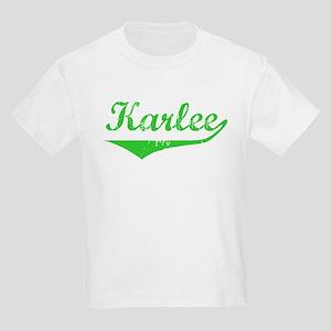 Karlee Vintage (Green) Kids Light T-Shirt
