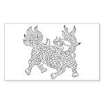 Dragon 5 Rectangle Sticker