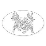 Dragon 5 Oval Sticker