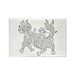 Dragon 5 Rectangle Magnet (100 pack)