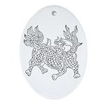 Dragon 5 Oval Ornament
