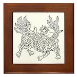 Dragon 5 Framed Tile