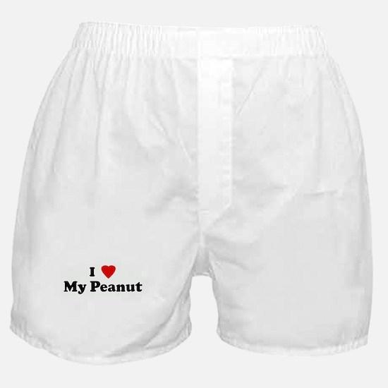 I Love My Peanut Boxer Shorts