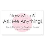 Ask Me Anything! Sticker (Rectangular)