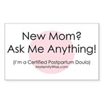 Ask Me Anything! Sticker (Rectangular)