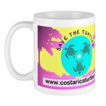 Save Turtles Tropical Logo Mug