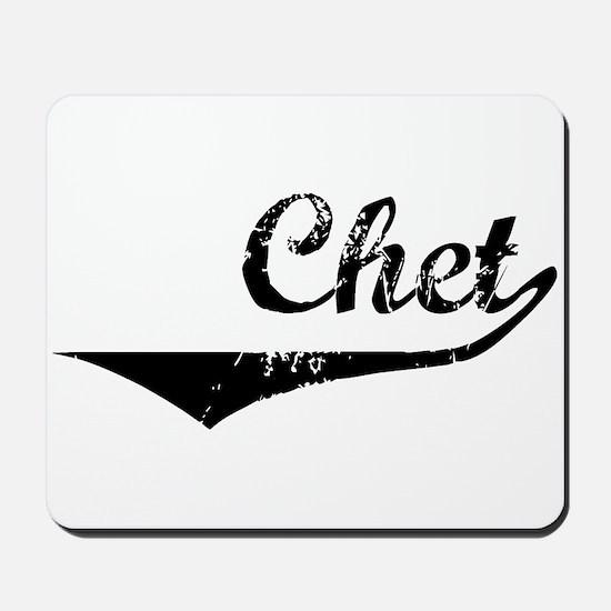 Chet Vintage (Black) Mousepad