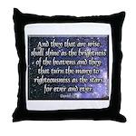 Daniel 12:3 Throw Pillow