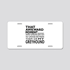 Awkward Greyhound Dog Desig Aluminum License Plate