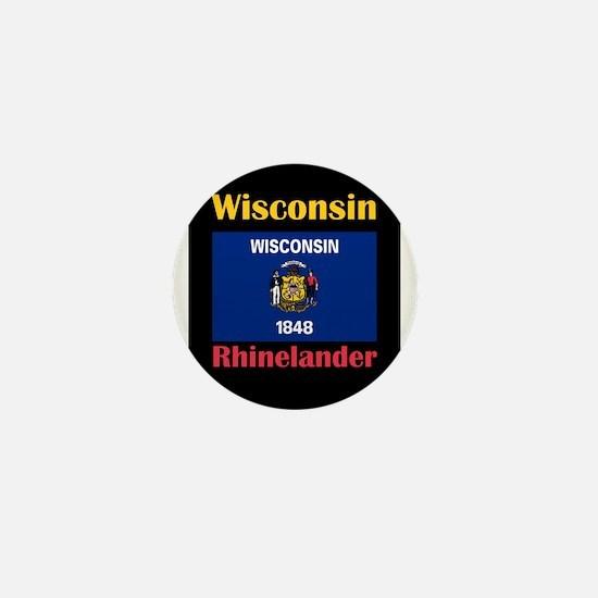 Rhinelander Wisconsin Mini Button