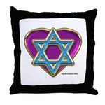 Heart For Israel Throw Pillow