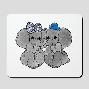 Elephants in Love Mousepad