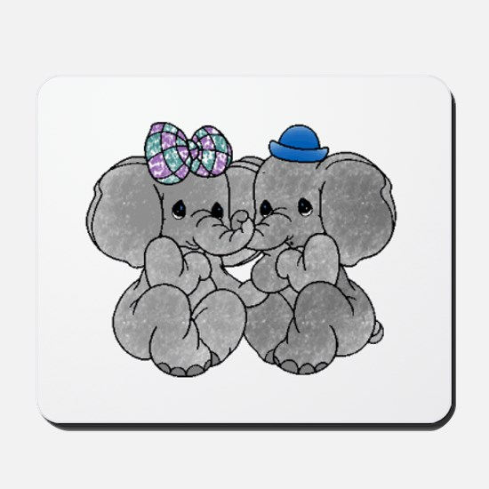 Elephants in Love Mousepad