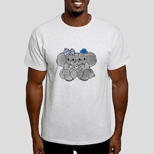 Elephants in Love Light T-Shirt