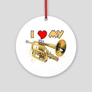 I *HEART* My Cornet Ornament (Round)
