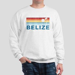 Retro Belize Palm Tree Sweatshirt