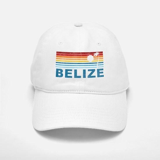 Retro Belize Palm Tree Baseball Baseball Cap