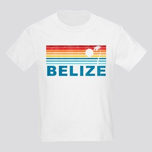 Retro Belize Palm Tree Kids Light T-Shirt