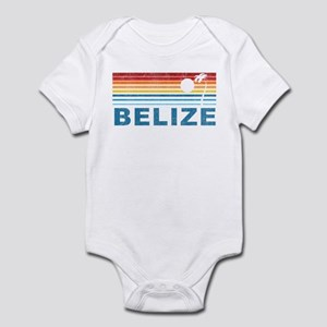 Retro Belize Palm Tree Infant Bodysuit