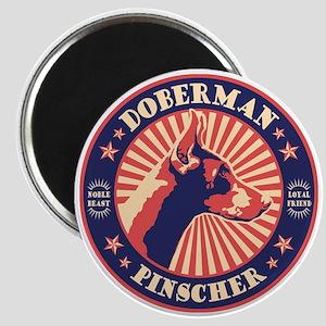 Doberman Vintage Emblem Magnet