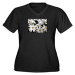 There is Hope Women's Plus Size V-Neck Dark T-Shir