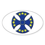 European Union Biker Cross Oval Sticker