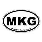 Muskegon County Airport Oval Sticker