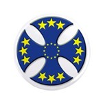 "European Union Biker Cross 3.5"" Button"
