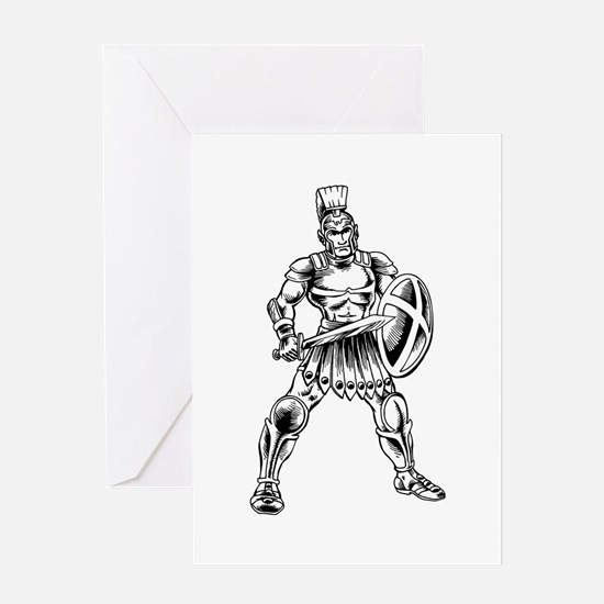 Roman Soldier Greeting Cards