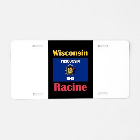 Racine Wisconsin Aluminum License Plate