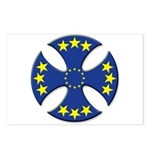 European Union Biker Cross Postcards (Pkg of 8)