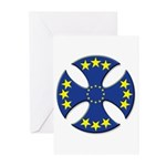 European Union Biker Cross Greeting Cards (10)