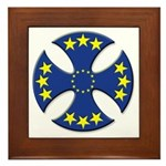 European Union Biker Cross Framed Tile
