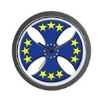 European Union Biker Cross Wall Clock