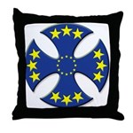 European Union Biker Cross Throw Pillow
