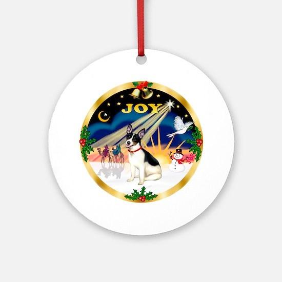 XmasSunrise(JOY)-Rat Terrier Ornament (Round)