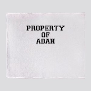 Property of ADAH Throw Blanket