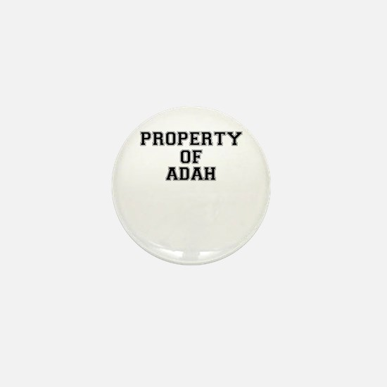 Property of ADAH Mini Button