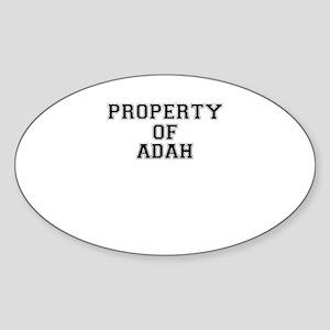 Property of ADAH Sticker