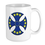 European Union Biker Cross Large Coffee Mug