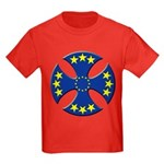 European Union Biker Cross Kids Dark T-Shirt