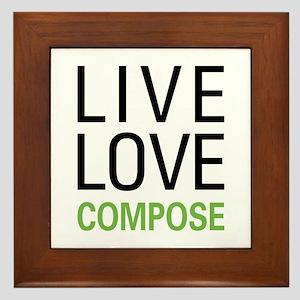Live Love Compose Framed Tile