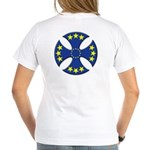 European Union Biker Cross Women's V-Neck T-Shirt