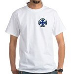 European Union Biker Cross White T-Shirt