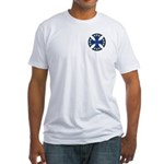European Union Biker Cross Fitted T-Shirt